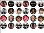 24 x The Wanted Edible Wafer Rice Paper Cup Cake Top Toppers